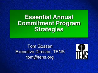 Essential Annual Commitment Program Strategies