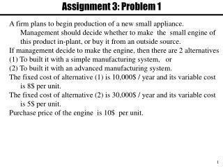 Assignment 3: Problem 1