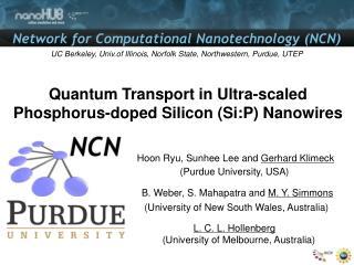 Quantum Transport in Ultra-scaled Phosphorus-doped Silicon ( Si:P )  Nanowires