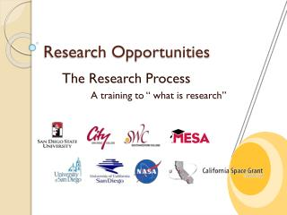 "The Research Process 		A training to "" what is research"""