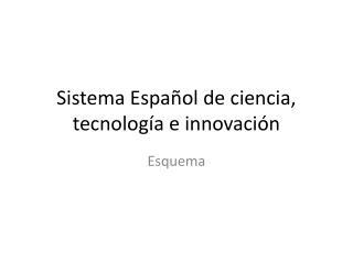 Sistema Español de ciencia, tecnología e innovación