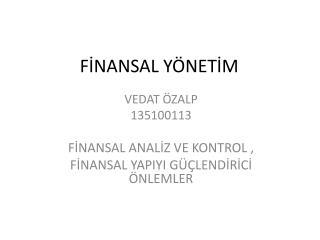 FİNANSAL YÖNETİM