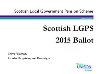 Scottish Local Government  P ension  S cheme