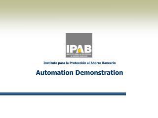 Demostraci n de la Automatizaci n