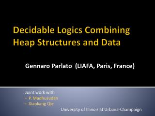 Decidable Logics Combining Heap Structures  and Data