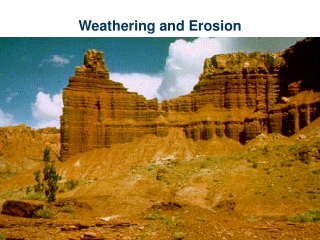 Weathering is the process by which natural forces break down rocks. There are 2 types of weathering: Mechanical weather
