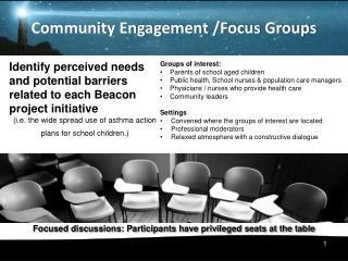 Community Engagement  /Focus  Groups