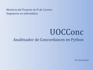 UOCConc