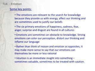 ToK  - Emotion