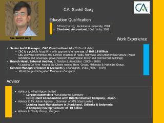 CA. Sushil Garg