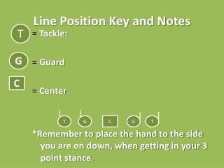 Line Position Key and Notes