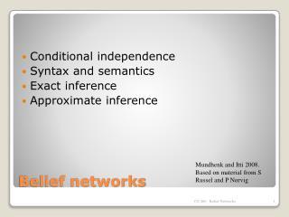 Belief networks