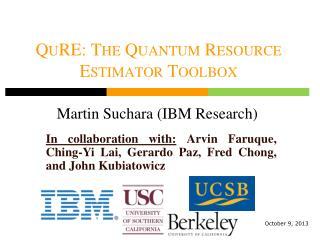 QuRE : The Quantum Resource Estimator Toolbox