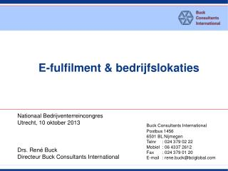 E-fulfilment &  bedrijfslokaties