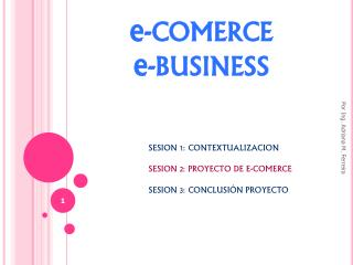 e -COMERCE e -BUSINESS
