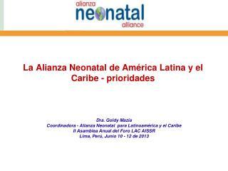 La Alianza Neonatal de América Latina y el Caribe  - prioridades