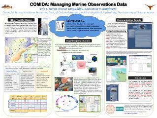 COMIDA: Managing Marine Observations Data