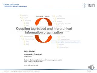 Coupling tag-based and hierarchical information organization