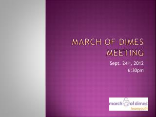 March of dimes meeting