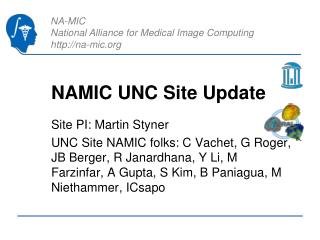 NAMIC UNC Site Update