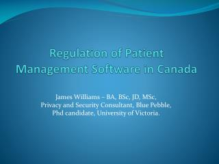 Regulation of Patient Management Software in Canada