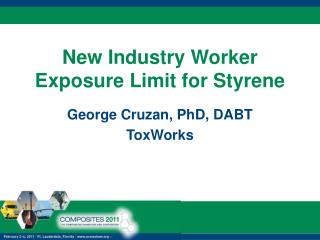 New Industry Worker Exposure Limit for Styrene