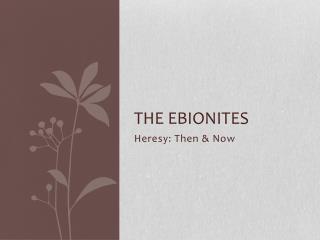The  Ebionites
