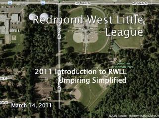 2011 Introduction to RWLL Umpiring Simplified