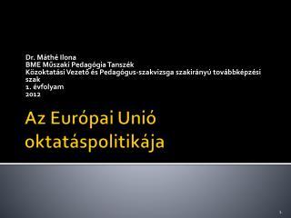 Az Európai Unió oktatáspolitikája