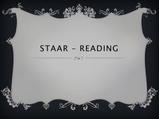 STAAR – READING