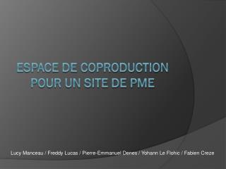 Espace de coproduction pour un site de PME