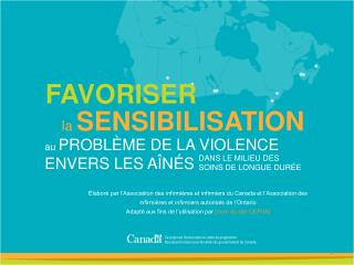 FAVORISER la  SENSIBILISATION