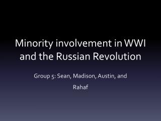 Minority involvement in WWI and the Russian Revolution