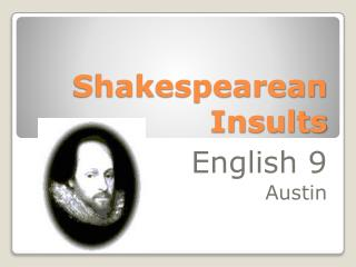 Shakespearean Insults