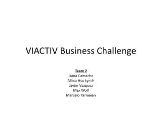 VIACTIV Business Challenge