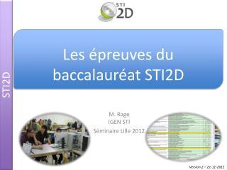 M. Rage IGEN STI Séminaire Lille 2012