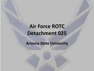 Air Force ROTC Detachment 025