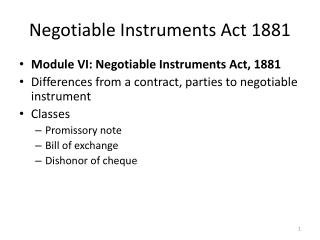 Negotiable Instruments Act 1881