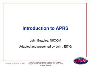 Introduction to APRS