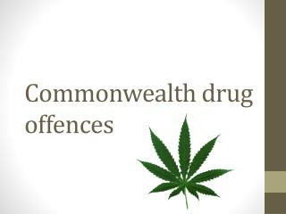Commonwealth drug offences