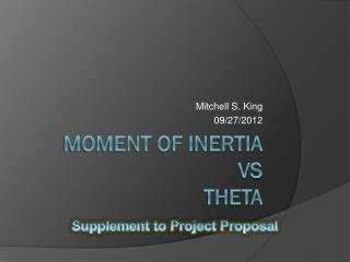 Moment of Inertia vs Theta