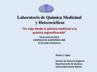 Laboratorio de Química Medicinal  y Heterocíclicos