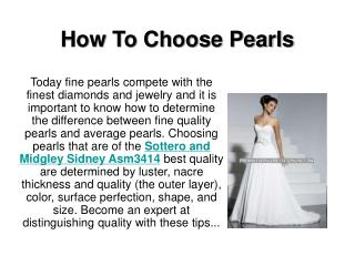 How To Choose Pearls
