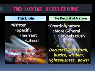 TWO DIVINE REVELATIONS