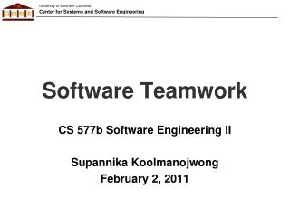 Software Teamwork