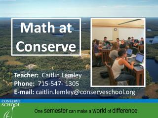 Math at Conserve