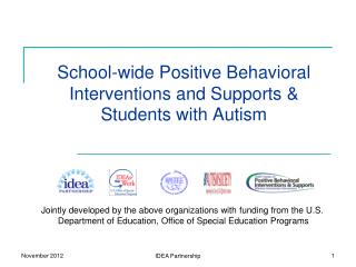 School-wide Positive Behavioral Interventions and Supports & Students with Autism
