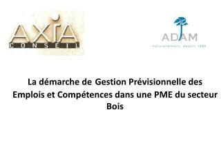 L a démarche de Gestion Prévisionnelle des  E mplois et Compétences dans une PME du secteur Bois