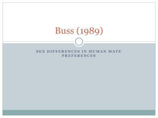 Buss (1989)