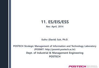 11. ES/EIS/ESS